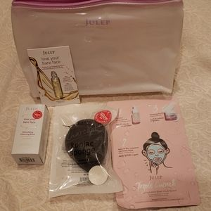 Julep 3PC Face cleansing set & bag - NWT